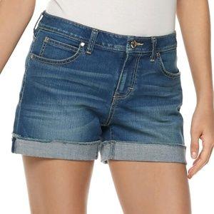 Women's Jennifer Lopez Cuffed Denim Shorts Size 2
